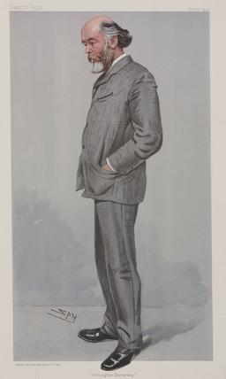 Sir Oliver Lodge, English physicist, 1904.