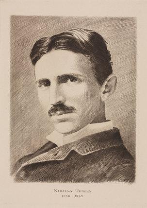 Nikola Tesla, Croatian-born Serb engineer, physicist and inventor, c 1885.