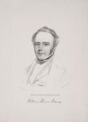 William Thomas Brande, British chemist, c 1842.