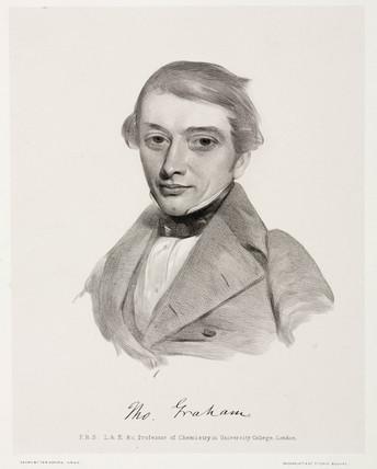 Thomas Graham, Scottish chemist, c 1842.