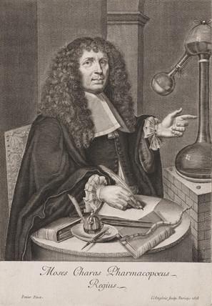 Moyse Charas, French chemist, 1678.