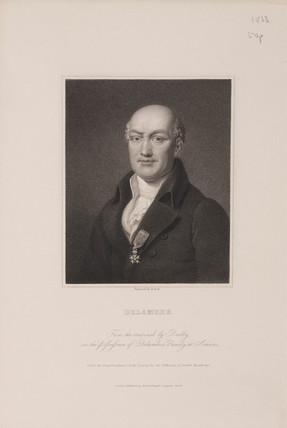 Jean Baptiste Joseph Delambre, French astronomer, c 1810s.