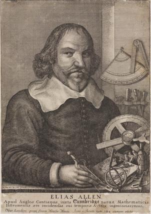Elias Allen, mathematician and instrument maker,  c 1630.