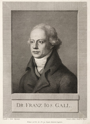 Franz Joseph Gall, German anatomist and phrenologist, c 1800.