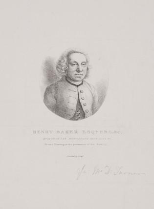 Henry Baker, naturalist, 18th century.