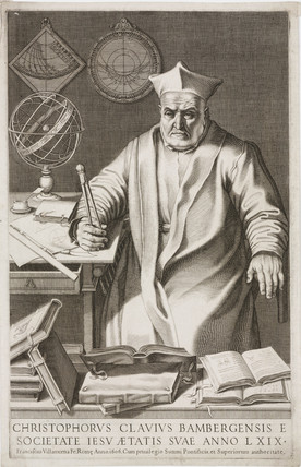 Christopher Clavius, German Jesuit priest and mathematician, 1606.