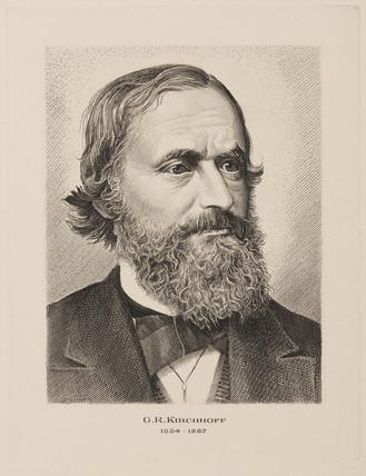 Gustav Kirchhoff, German physicist, mid-19th century.
