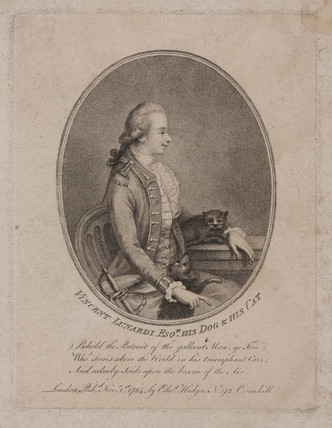 Vincent Lunardi, Italian aeronaut, 1784.