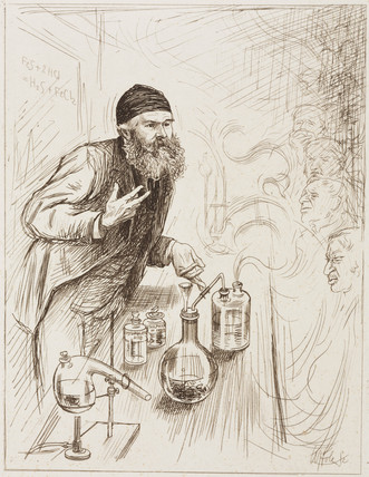 Alexander Crum Brown, Profesor of Chemistry, 1884.