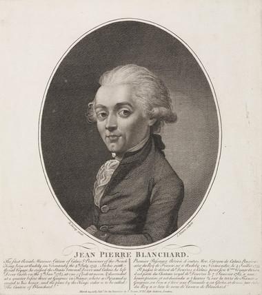 Jean-Pierre Francois Blanchard, French aeronaut, 1785.