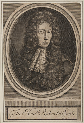 Robert Boyle, Irish physicist and chemist, c 1680.