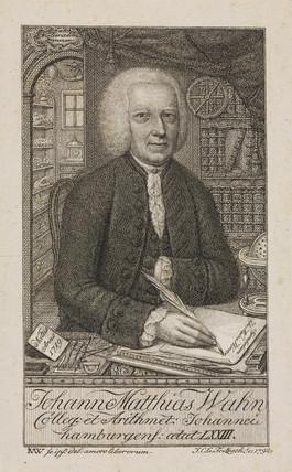 Johann Matthias Wahn, German mathematician, c 1792.