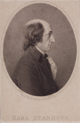 Charles Mahon, 3rd Earl Stanhope, c 1810.