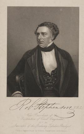 Robert Stephenson, English mechanical and civil engineer, c 1850.
