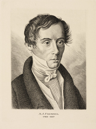 Augustin Jean Fresnel, French physicist, c 1825.
