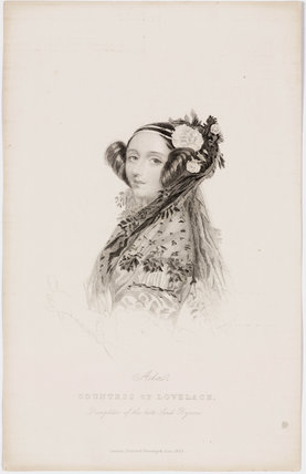 Ada King, Countes of Lovelace, c 1840.