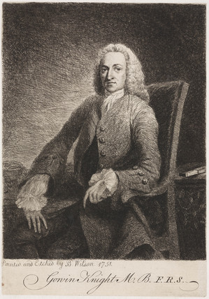 Gowin Knight, scientist, c 1751.