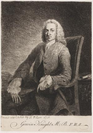Gowin Knight, scientist, c 1751.