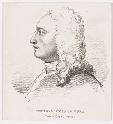 John Hadley, optical instrument maker, 1728.