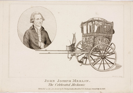 John Joseph Merlin, Belgian inventor and mechanic, c 1770.