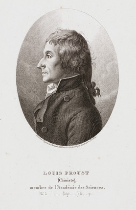 Joseph Louis Proust, French chemist, c 1795.