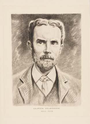 Oliver Heaviside, physicist, c 1900.