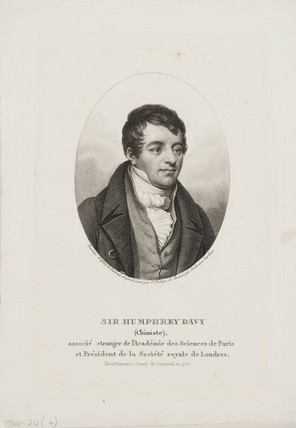 Sir Humphry Davy, English chemist, c 1800.