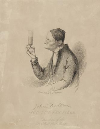 John Dalton, English chemist, c 1820s.
