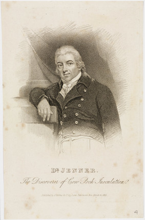 Edward Jenner, British physician, c 1820.