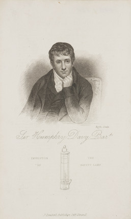 Sir Humphry Davy, English chemist, c 1810s.