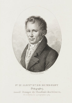 Alexander von Humboldt, German naturalist and explorer, c 1810.