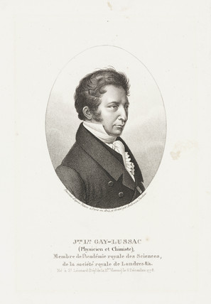 Joseph Louis Gay-Lusac, French chemist and physicist, 1824.