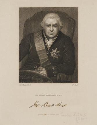 Sir Joseph Banks, explorer and botanist, 1815.