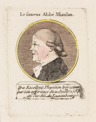 'Le fameux Abbe Miaulan', c 1784.