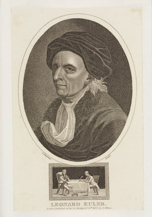 Leonhard Euler, mathematician, c 1770s.