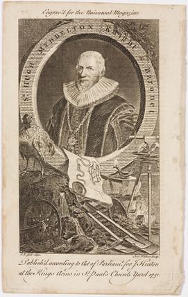 Sir Hugh Myddelton, Welsh goldsmith and engineer, c 1620s.