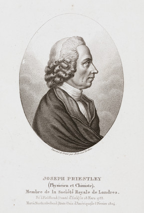Joseph Priestley, English-American theologian and chemist, c 1780.
