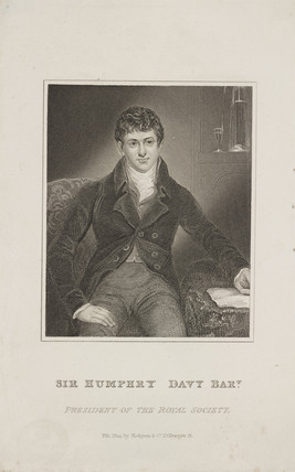 Sir Humphry Davy, English chemist, c 1824.
