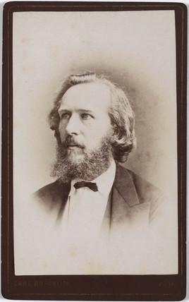 Ernst Haeckel, German naturalist, c 1860s.