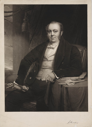 George Hudson, English railway chairman,  c 1850.