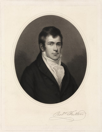 Robert Fulton, American artist and inventor, c 1800.