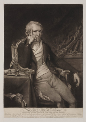 Benjamin Thompson, Count Rumford, American administrator, c 1810.