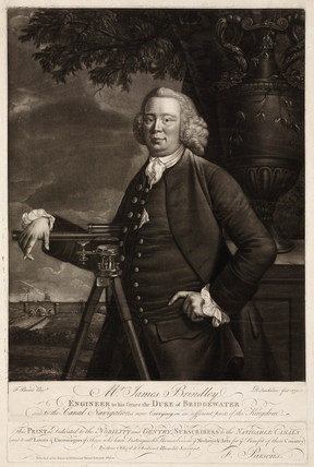 James Brindley, British civil engineer and canal builder, 1770.