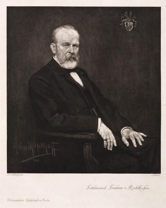 Ferdinand von Richthofen, German geographer and geologist, c 1900.