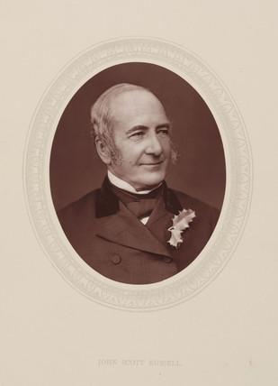 John Scott Rusell, Scottish civil engineer and naval architect, c 1870s.