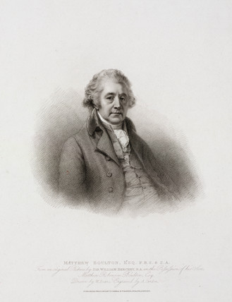 Matthew Boulton, English engineer and industrialist, c 1801.