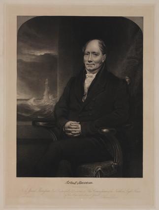 Robert Stevenson, Scottish lighthouse engineer, c 1820s.