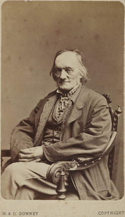 Sir Richard Owen, English naturalist and paleontologist, c 1880.