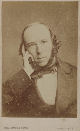 Herbert Spencer, English social philosopher, c 1860s.