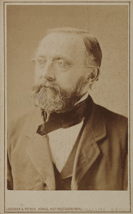 Rudolf Ludwig Karl Virchow, German anatomist and pathologist, c 1875.
